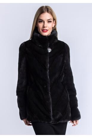 Куртка из меха норки паркет (10-7009)