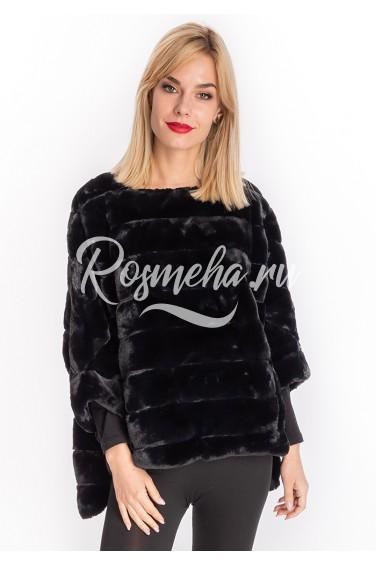 Черный свитер из искусственного меха (98-50206)