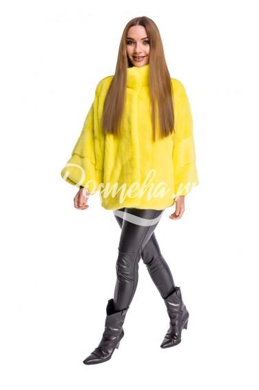 Лимон норка скандинавка летучая мышь воротник стойка (297-6513)