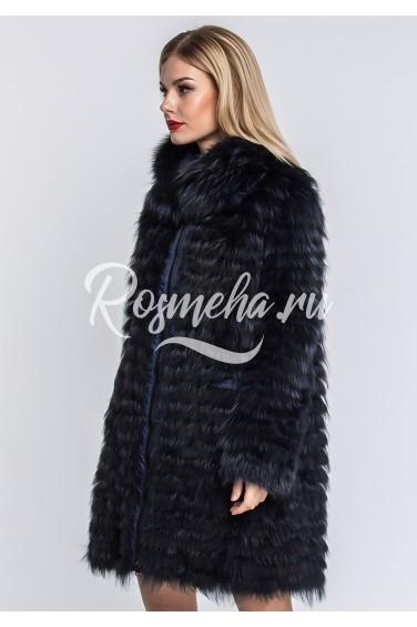 Двустороннее пальто из чернобурки (39-9042)