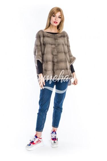 Норковый свитер сильвер (23-6004)