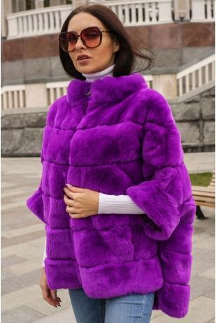 Свитер фиолетовый из кролика (01-60306)