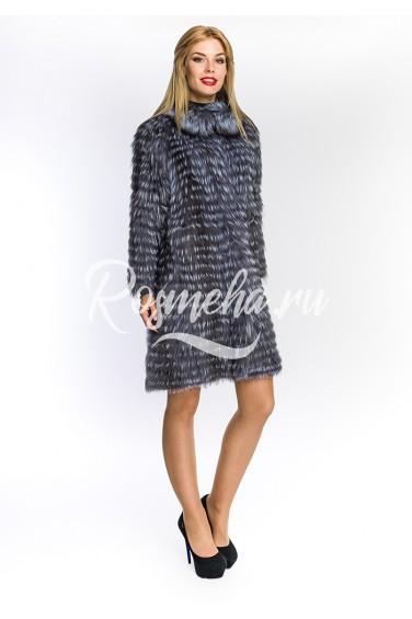 Чернобурка пальто стойка (45-90592)