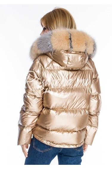 Двухсторонняя куртка пуховик (65-60592)
