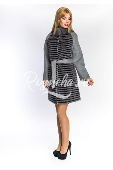 Пальто с мехом норки (05-9012)