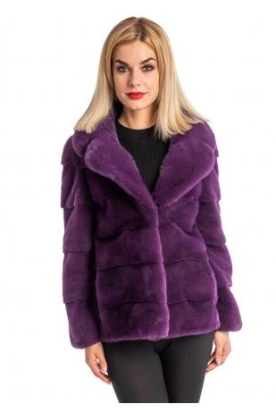 Меховая куртка фиолет мех NAFA (197-6013)