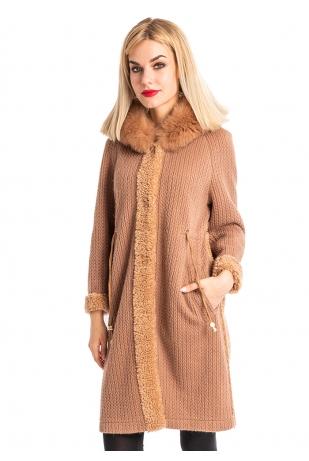 Утепленная куртка на шерстяной основе (99-905)