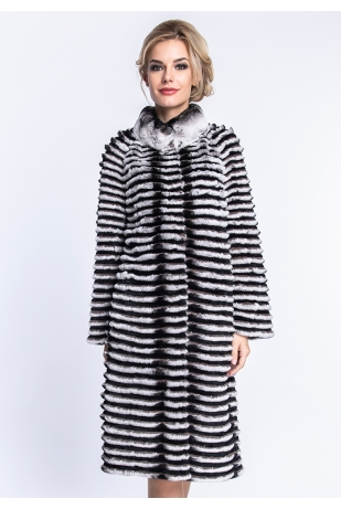 Пальто из кролика на кашемире (09-100126)