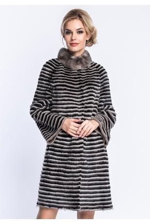 Пальто из норки на кашемире  (19-90126)