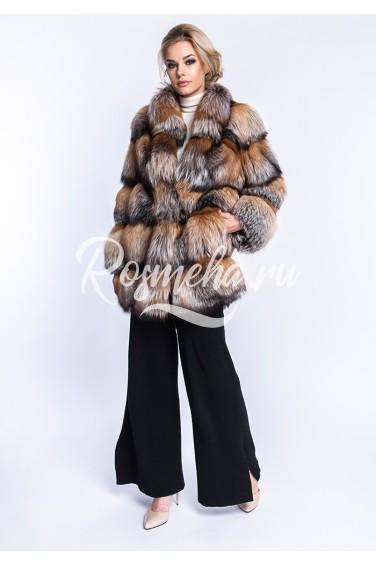 Шуба из финской лисы (23-8029)