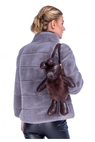 Коричневый рюкзак зайчик (49-8)