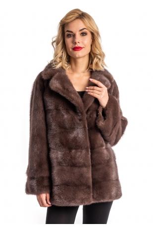 Пиджачный воротник норковая куртка (005-7041)