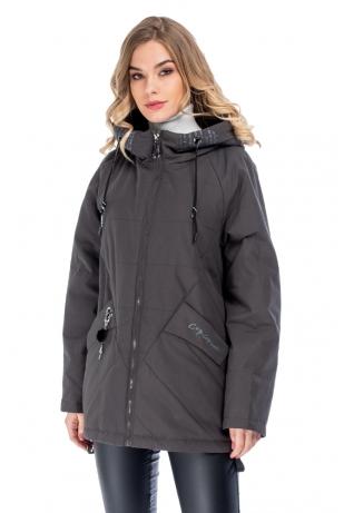 Темная женская куртка cop copine (2907-82)