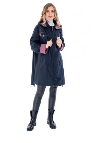 Синяя куртка ветровка cop-copine (017-66-5)