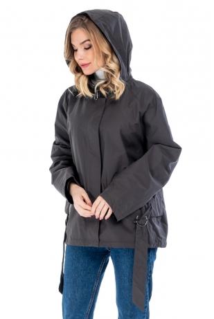 Укороченная куртка cop copine с капюшоном (019-82)
