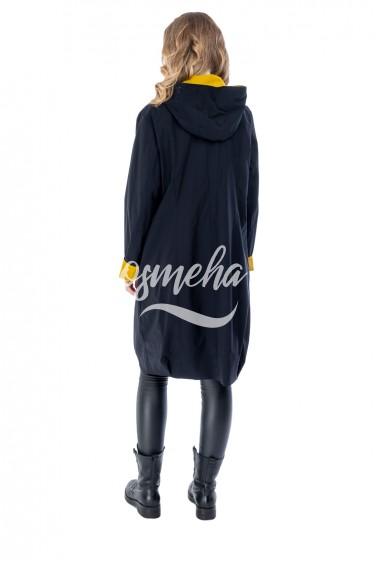 Длинная черная куртка-ветровка cop-copine (6280-88-86)