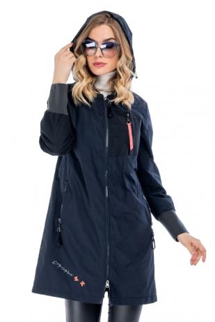 Молодежная женская куртка до колена cop copine (F8109-66-88)