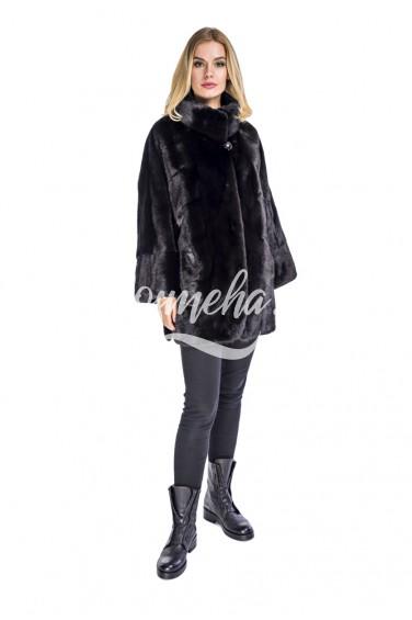 Стильное черное кимоно свободный рукав (009-8059)