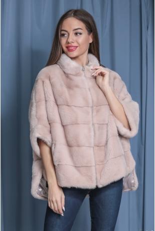 Пудра свитер из меха норки (144-6004)