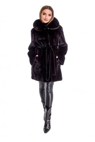 Шуба халат из аукционного меха норки NAFA (02-90А4)