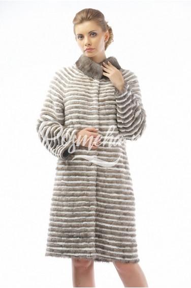 Меховое пальто рекс и норка (04-100521)