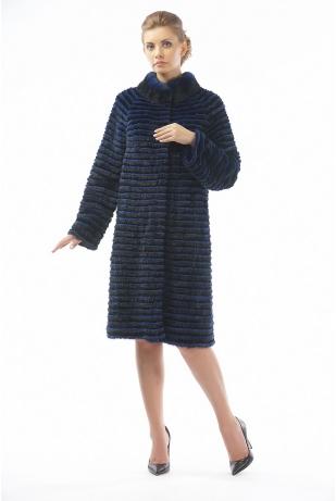 Меховое пальто рекс и норка (05-100521)