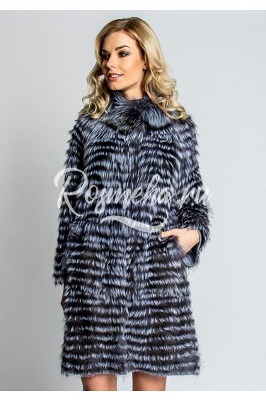 Демисезонное пальто из чернобурки (46-80521)