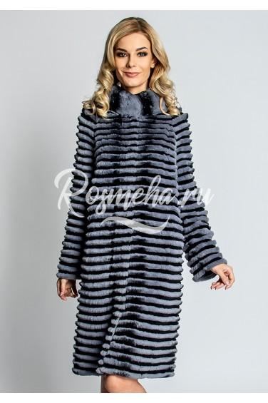 Длинное пальто из рекса (59-100521)