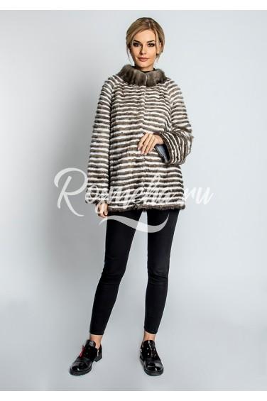 Короткое пальто из норки (68-70521)