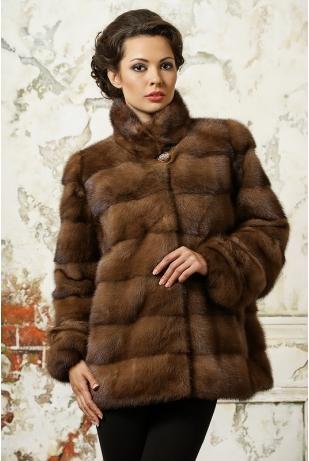 Куртка из меха норки стойка (786-127Н)