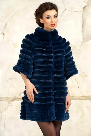 Пальто из рекс реббита (008-216)