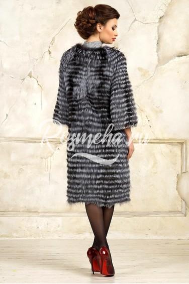 Модное пальто из чернобурки (K3017)