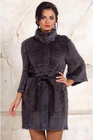 Пальто из меха ондатры (К128-240S)