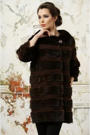 Меховое пальто из норки (2013-402Н)